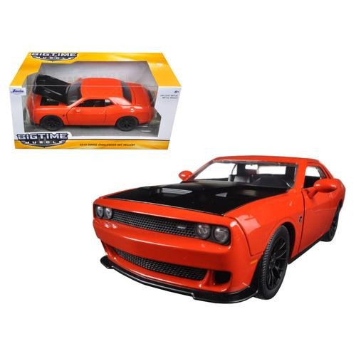 Jada 2015 Dodge Challenger SRT Hellcat 1/24 Scale Diecast Model Car Orange (Diecast Model Cars)