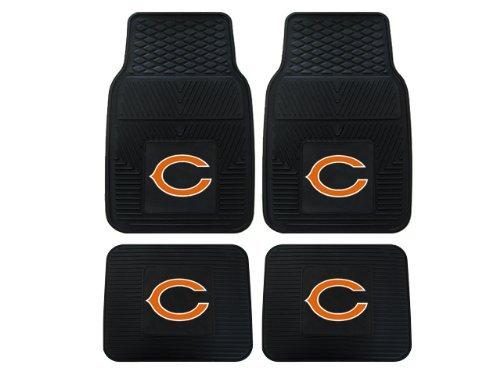 Mats Bears Chicago - Front & Rear Car Truck SUV Floor Mats Heavy Duty Vinyl - NFL Football - Chicago Bears