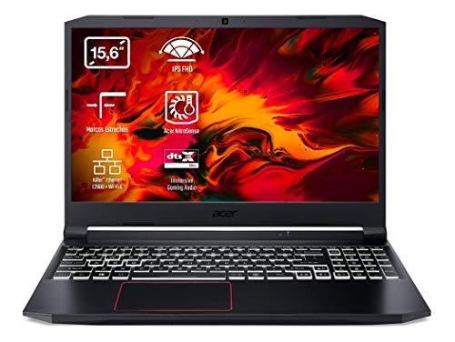 Acer Nitro 5 AN515-54 – Ordenador Portátil Gaming 15.6″ Full HD, Gaming Laptop (Intel Core i7-9750H, 16GB RAM, 512GB SSD, NVIDIA GeForce GTX 1660Ti, Sin Sistema Operativo), PC Portátil Negro, QWERTY
