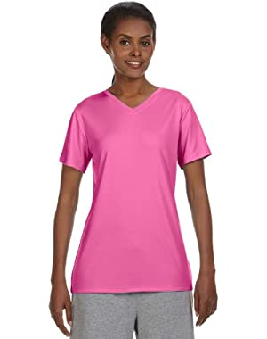 Hanes Women's Cool Dri V-Neck Performance T-Shirt
