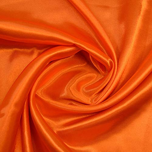 mds Pack of 5 Yard Charmeuse Bridal Solid Satin Fabric for Wedding Dress Fashion Crafts Costumes Decorations Silky Satin 44