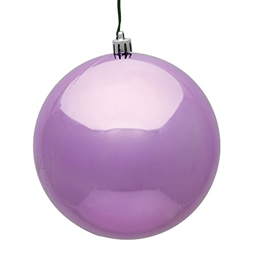 Vickerman 6'' Orchid Shiny UV Treated Ball Christmas Ornament with Drilled and Wired Cap, 4 per Bag by Vickerman