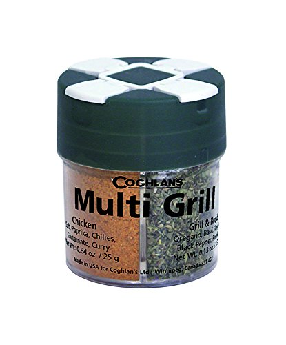 Coghlan's Multi-Grill Spice and Herb Assortment Shaker (Seafood, Pepper Steak, Chicken, Grill & Boil) (Accessory Promax Kit)