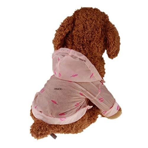Shirt Miniature Dachshund Denim (Jim-Hugh Sunscreen Waterproof Dog Dresses Clothes Slim Hooded Summer Sun Protection Dogs Clothing Sunscreen Pet)