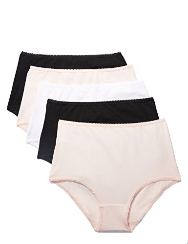 - Iris & Lilly Women's Cotton Full Coverage High Waist Brief,  Pack of 5,  multicolored Large, L (US 10)
