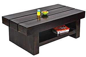 Daintree RONY Solid Wood Coffee Table (Dark Walnut Finish)