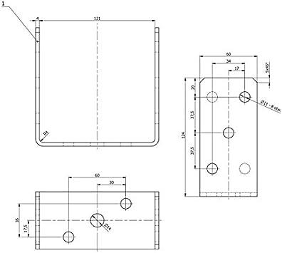 GRUNDLINE PSC 60x62x170 atornillada al hormig/ón Base de poste