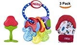 Baby : Unique Teether Set for Babies by Nuby – BPA Free Baby Teething Toy Set – Ice Teether Key with Teething Mitten and Toy – Perfect Teether Toys for Babies – Nuby Baby Teether Set