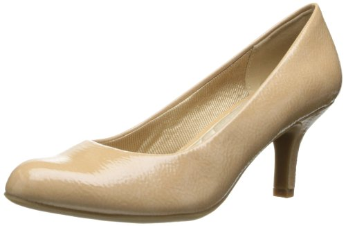 Easy Street Womens Passion Dress Pump Taupe Piega Brevetto