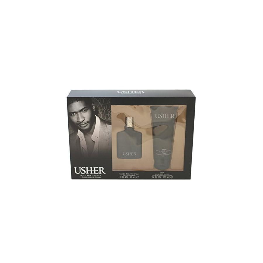 Usher Eau de Toilette Spray Gift Set for Men, 1 Ounce
