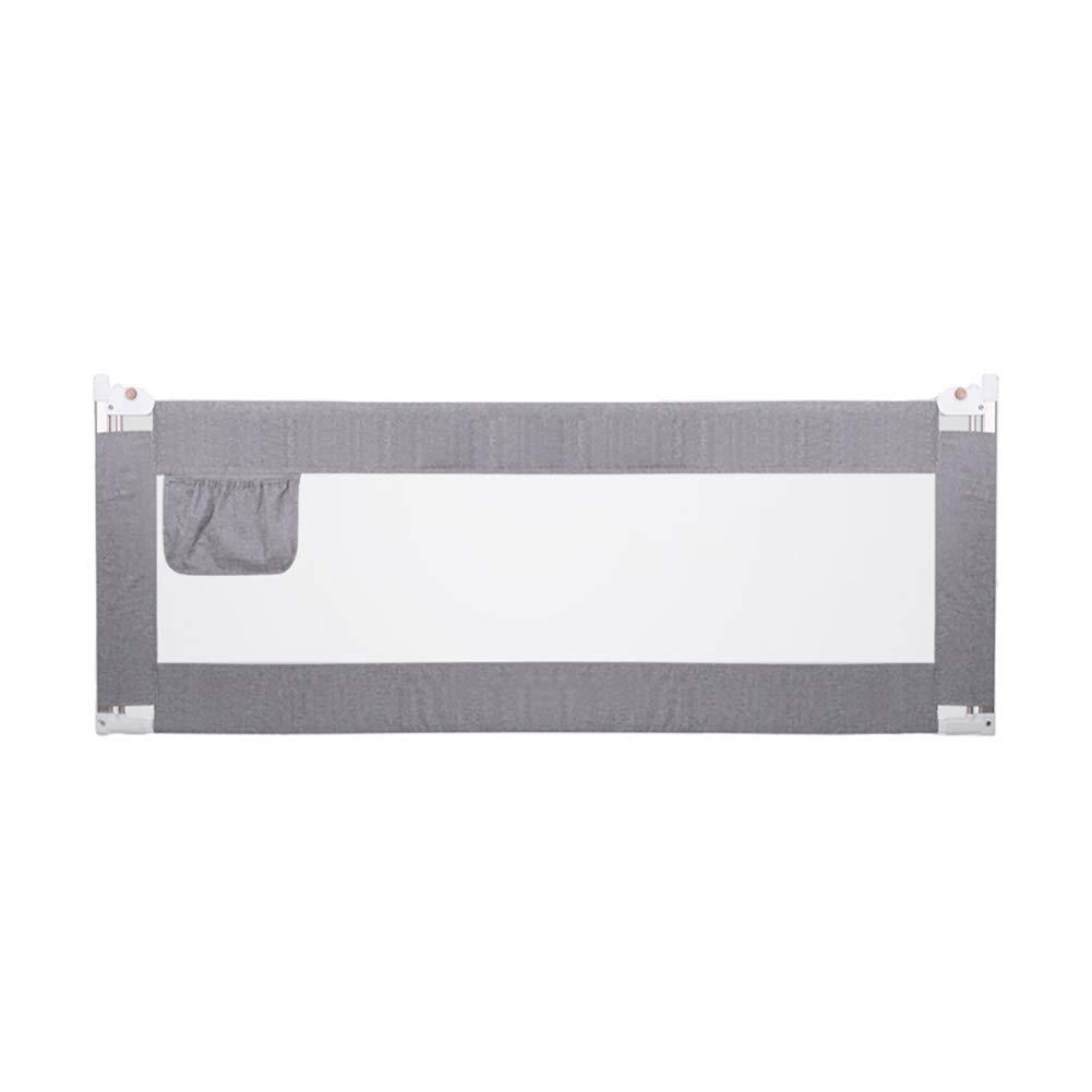 ベッドフェンス キッズベッドセーフティガードレール、エクストラロングベッドレイルキッズツインダブルベッドフェンスメタルフレーム、ハイ90cm (色 : Gray, サイズ さいず : Length 150cm) Length 150cm Gray B07KM612Z1