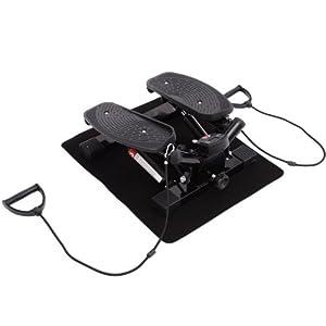 Homcom® Mini Stepper Sidestepper Fitness Heimtrainer inkl. Trainingsbänder...