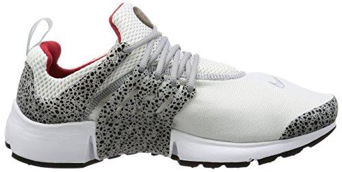 Nike Mens Air Presto Qs Safari Tessuto Bianco / Rosso