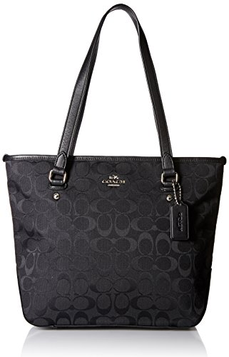 Coach Women's Zip Top Tote, Black