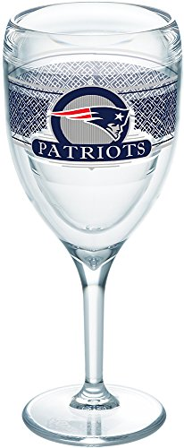 Tervis 1227660 NFL New England Patriots Select Tumbler with Wrap 9oz Wine Glass, Clear ()