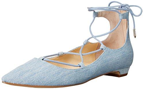 Ivanka Trump Womens Tropica6 Ballet Flat Blue Denim