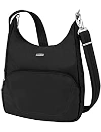 Anti-Theft Classic Essential Messenger Bag, Black, One Size