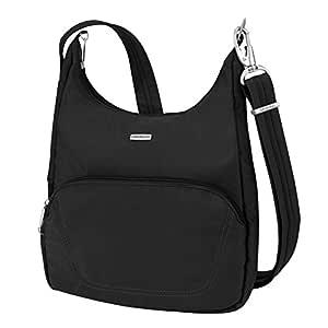 Travelon Anti-Theft Classic Essential Messenger Bag, Black (Black) - 42457 500