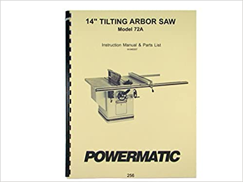 Powermatic model 72a 14 table saw instruction parts list manual powermatic model 72a 14 table saw instruction parts list manual powermatic amazon books keyboard keysfo Images