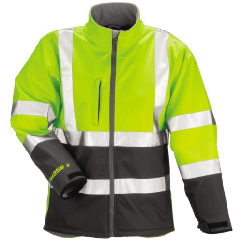 TINGLEY Rubber J25022 Phase 3 Softshell with Fleece Lining, Medium, Lime Green ()