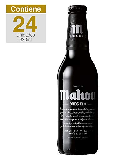 Mahou Negra, Lager Tipo Múnich, caja 24 botellas, España