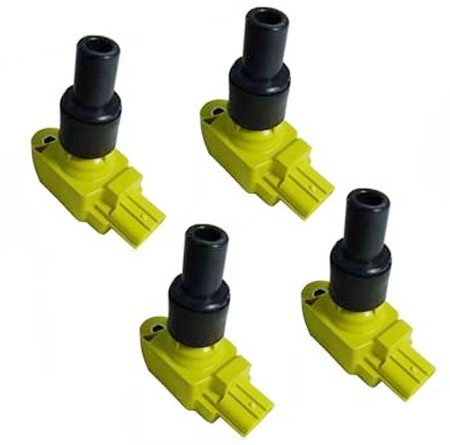 UF501 N3H118100 Yellow 04-11 Mazda RX-8 Set 4 Ignition Coil