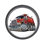 """CafePress - Mack Dump Truck Red - Unique Decorative 10"""" Wall Clock"""