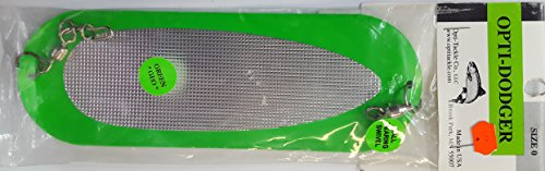 Opti Tackle Green Silver Waffle Front and Back 8