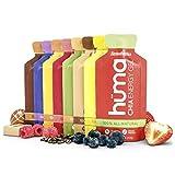 Huma Chia Energy Gel, Variety Pack, 12 Gels (1 each of 8 flavors, plus 4 random picks)