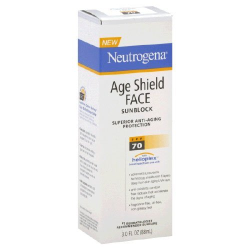 Neutrogena Age Shield Face Spf#70 Lotion 3oz Pack of 5