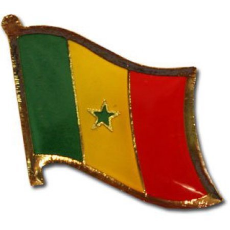 """Backwoods Barnaby Senegal Flag Lapel Pin/International Travel Pins Collections by (0.75"""" x 0.75"""")"""