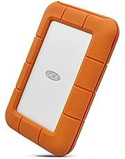 LaCie Rugged USB-C, Extern portabel skyddad Hårddisk 5 TB, USB-C, Stöt, Damm, Drop och Regnskyddad, för PC och Mac, Inklusive 2 år Rescue Services Dataräddning (STFR5000800)