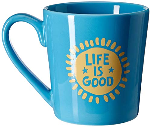 Life is Good Coffee Mug Everday Collection,Sun Star,Powder Blue,One Size