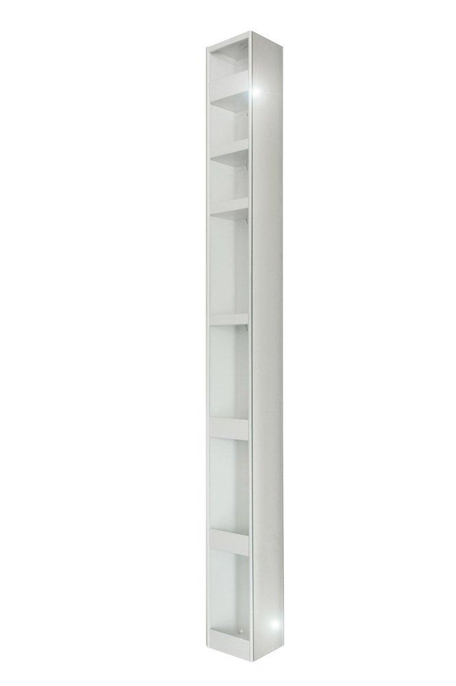 4001070101877 Badspiegel-Drehschrank, 15 x 20 x 160 metall ...