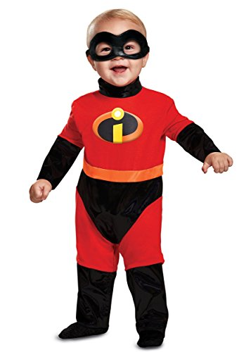 Disguise Baby Incredibles Infant Classic Costume, Red, (Halloween Costumes The Incredibles Baby)