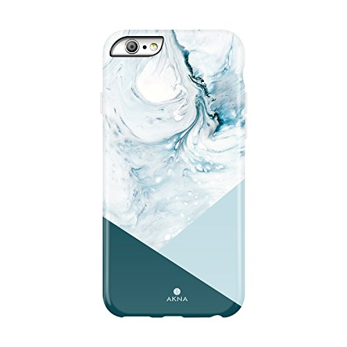 Akna iPhone 6 Plus/6s Plus case for girls, Collection Flexible Silicon Cover for both iPhone 6 Plus & iPhone 6s Plus [Blue Acrylic (Blue Acrylic Case)