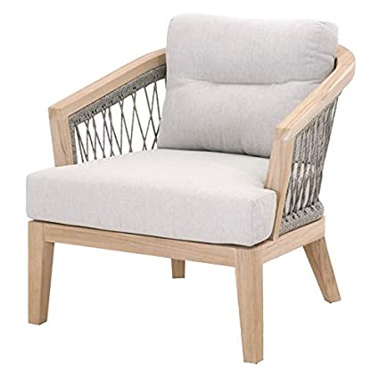 Rope Patio Furniture.Amazon Com Maklaine Outdoor Club Chair In Platinum Rope And Gray
