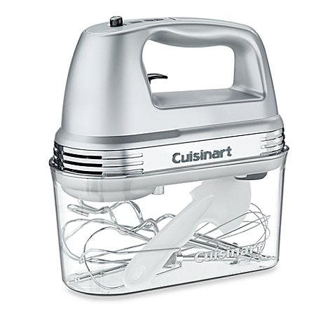7-Speed Electric Hand Mixer in Brushed Chrome with Storage Case