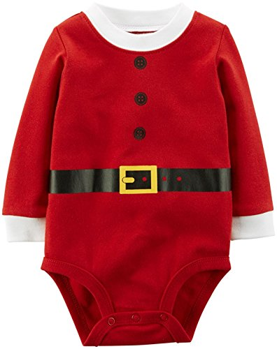 Carter's Unisex Baby Holiday Bodysuit (Baby) - Santa - 12 Months