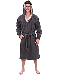 Del Rossa Men's Cotton Robe, Sweatshirt Style Hooded...