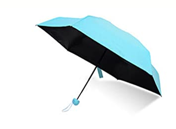 junlong Mini muy luz paraguas plegable paraguas, paraguas de bolsillo Mini Cápsula de secado rápido