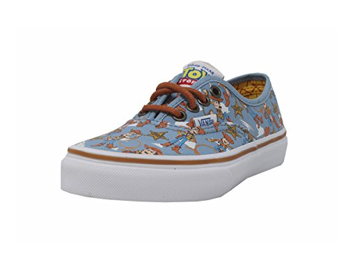 VANS Boys Authentic Shoes Woody Blue Disney Pixar Toy Story Kids/Youth (3.5) -