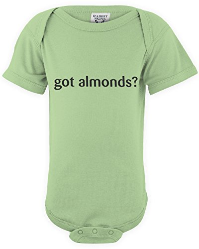 shirtloco Baby Got Almonds Infant Bodysuit, Key Lime Newborn ()