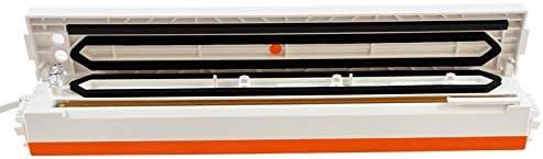 Macchine sottovuoto Food Vacuum Sealer Imballaggio Confezione Macchina Film Cucina Risparmio Mini Vuoto Contenitore Con 15pcs Vacum Bag/arancione