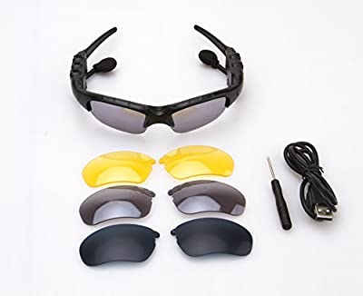 Smart Bluetooth Glasses, Which Can Connect Two Phones Simultaneously, 4.1 Stereo Bluetooth Wireless Sports Car Sunglasses By Pretty Baby99
