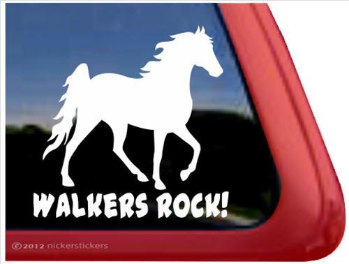 Walkers Rock! ~ Tennessee Walking Horse Trailer Vinyl Window Decal Sticker ()