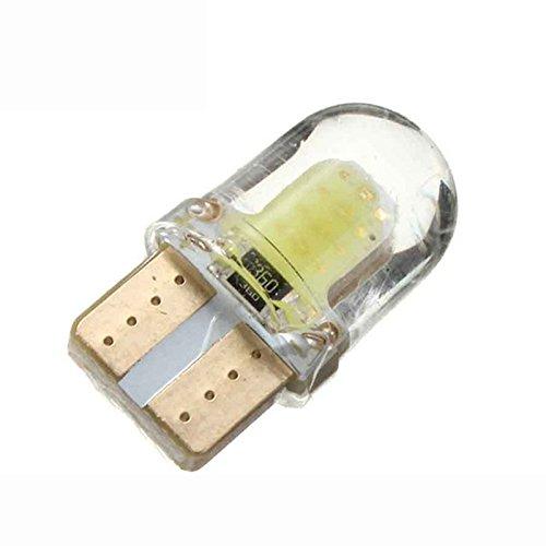 REFURBISHHOUSE 10pc LED T10 W5W COB SMD CANBUS Lampara de luz Blanca Brillante de silice