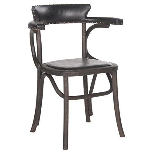 Safavieh Mercer Collection Kenny Arm Chair Antique Black
