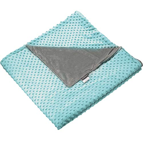 (Secura Everyday Luxury Removable Minky Cover for Weighted Blanket | Minky Dot Duvet Cover | 48''x72'' Twin Size Bed | Green)