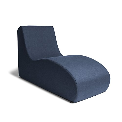 Jaxx Shea Lounger - Plush Foam Lounge Chair for Living Rooms, Dorms, or Offices - Navy (Plush Reception Chair)